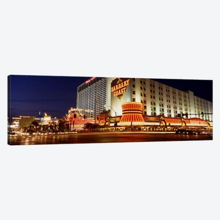 USA, Nevada, Las Vegas, Buildings lit up at night Canvas Print #PIM1692} by Panoramic Images Canvas Art