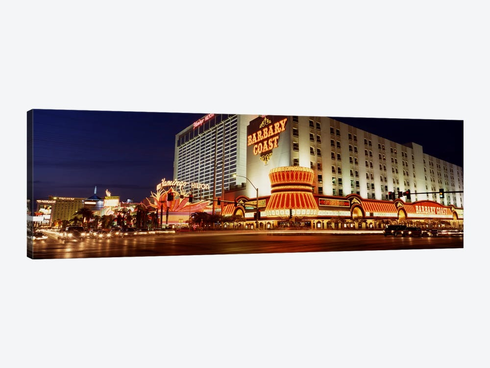 USA, Nevada, Las Vegas, Buildings lit up at night by Panoramic Images 1-piece Canvas Print