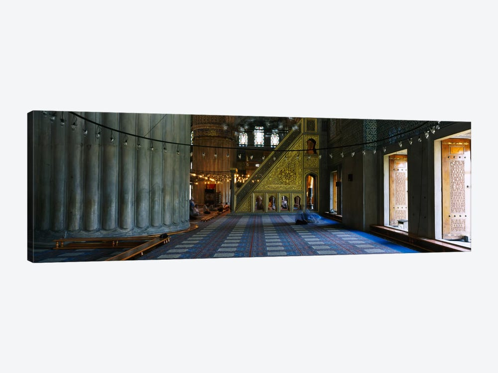 Interiors of a mosqueBlue Mosque, Istanbul, Turkey by Panoramic Images 1-piece Canvas Artwork