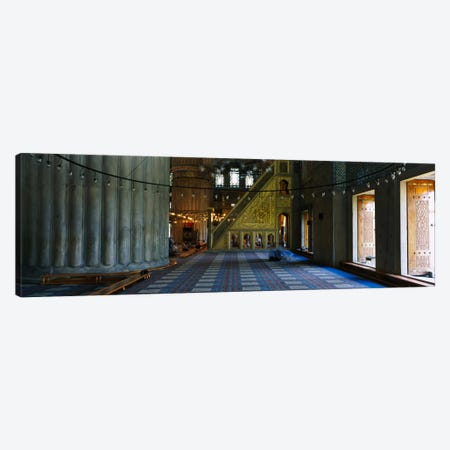 Interiors of a mosqueBlue Mosque, Istanbul, Turkey Canvas Print #PIM1693} by Panoramic Images Canvas Wall Art