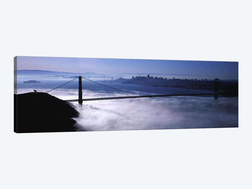 USACalifornia, San Francisco, Fog over Golden Gate Bridge by Panoramic Images 1-piece Canvas Art Print