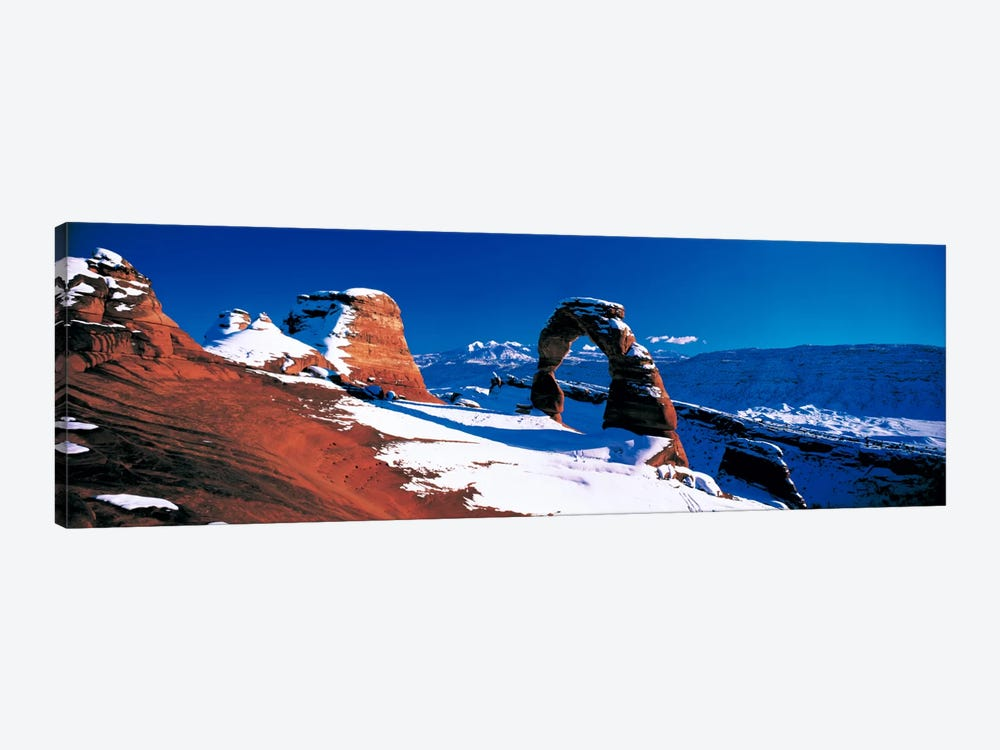 Delicate Arch In Winter, Arches National Park, Utah, USA by Panoramic Images 1-piece Canvas Print