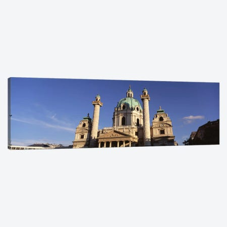 Austria, Vienna, Facade of St. Charles Church Canvas Print #PIM1700} by Panoramic Images Canvas Art