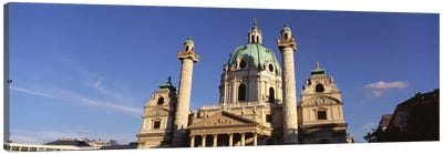 Austria, Vienna, Facade of St. Charles Church Canvas Art Print