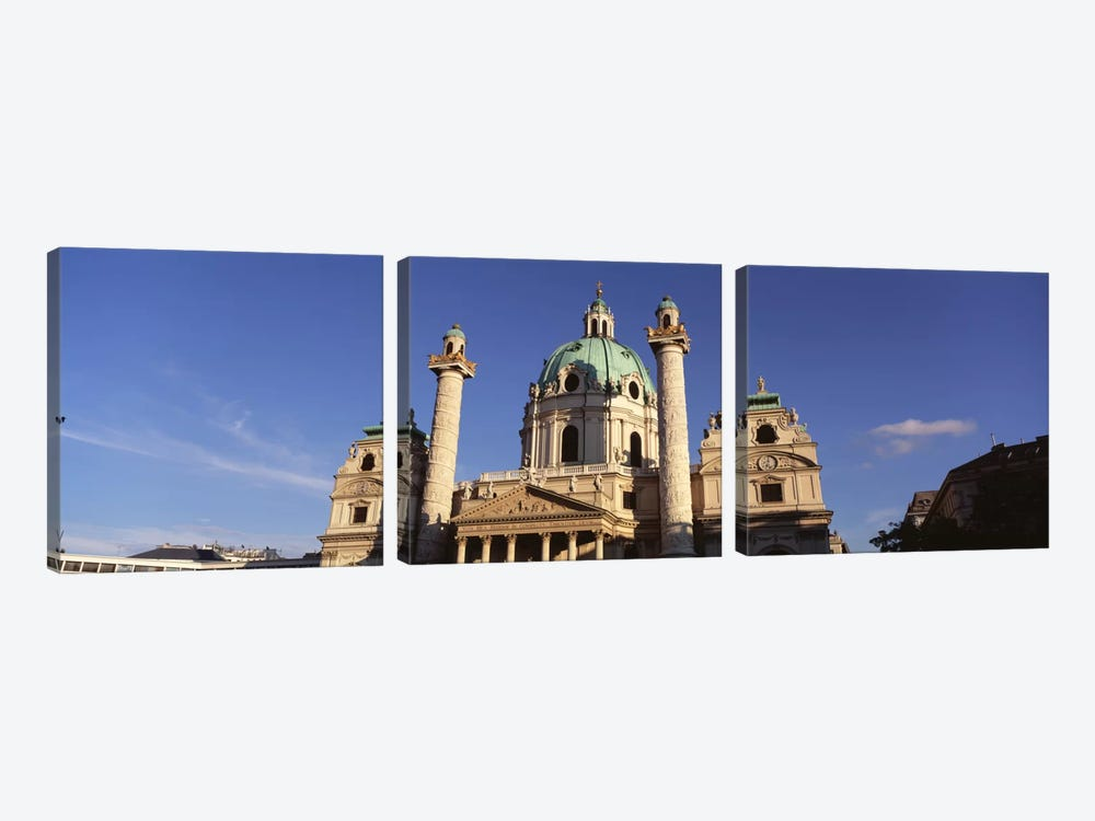 Austria, Vienna, Facade of St. Charles Church by Panoramic Images 3-piece Canvas Print