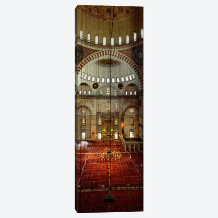 Interiors of a mosque, Suleymanie Mosque, Istanbul, Turkey Canvas Print #PIM1703} by Panoramic Images Canvas Wall Art