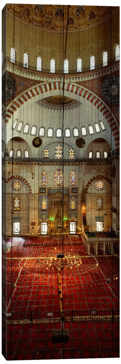 Interiors of a mosque, Suleymanie Mosque, Istanbul, Turkey Canvas Art Print