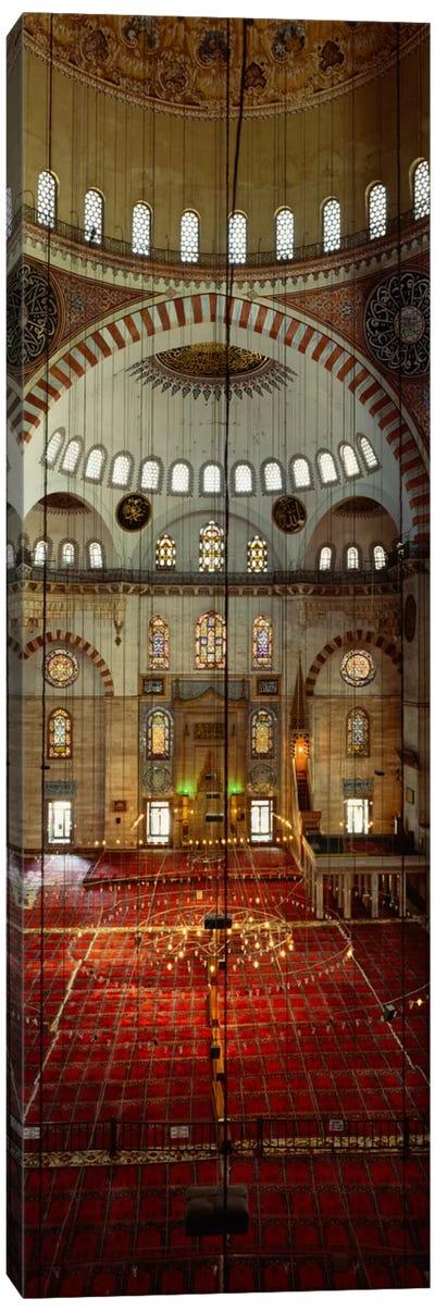 Interiors of a mosque, Suleymanie Mosque, Istanbul, Turkey Canvas Print #PIM1703