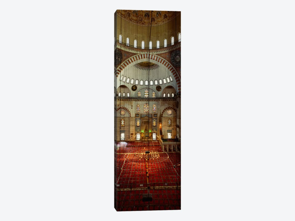Interiors of a mosque, Suleymanie Mosque, Istanbul, Turkey by Panoramic Images 1-piece Canvas Art