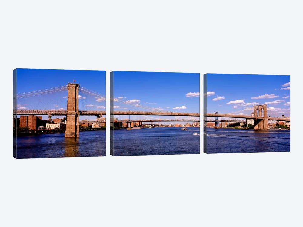 Brooklyn Bridge, NYC, New York City, New York State, USA 3-piece Art Print