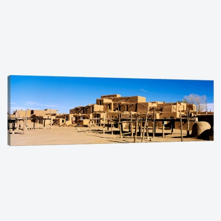 Taos Pueblo, Taos County, New Mexico, USA Canvas Print #PIM1709} by Panoramic Images Canvas Artwork