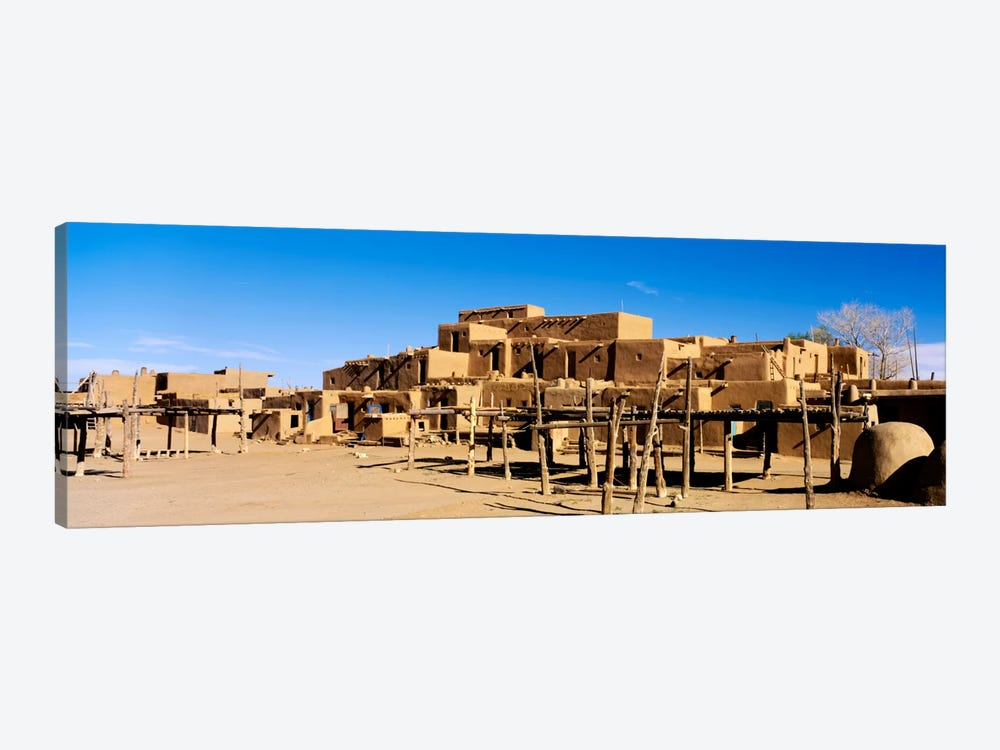 Taos Pueblo, Taos County, New Mexico, USA by Panoramic Images 1-piece Canvas Artwork