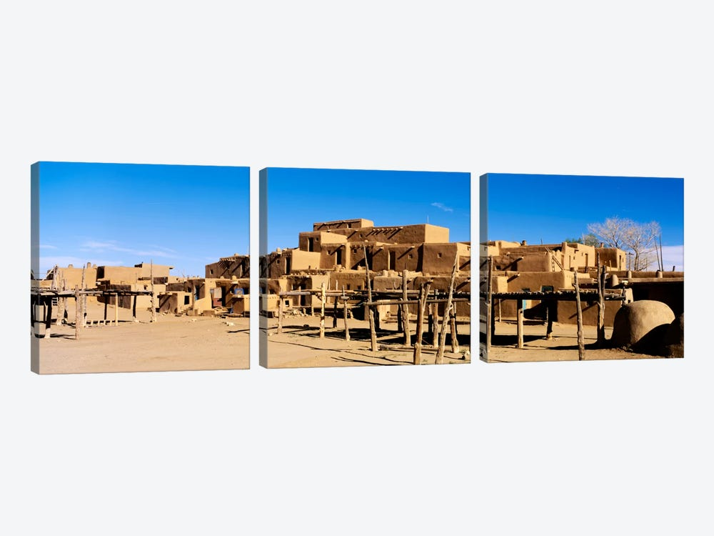 Taos Pueblo, Taos County, New Mexico, USA by Panoramic Images 3-piece Canvas Artwork