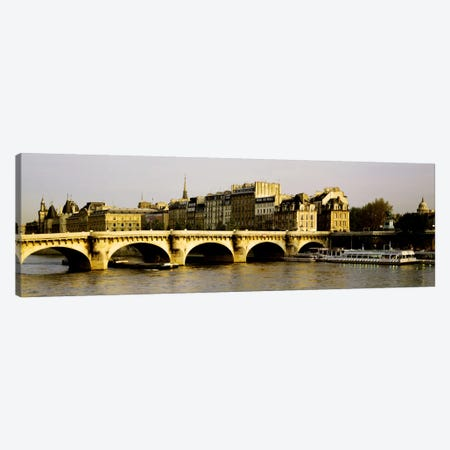 Pont Neuf With Ile de la Cite In The Background, Paris, Ile-de-France, France Canvas Print #PIM170} by Panoramic Images Canvas Wall Art