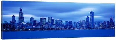 View Of An Urban Skyline At Dusk, Chicago, Illinois, USA Canvas Print #PIM1714