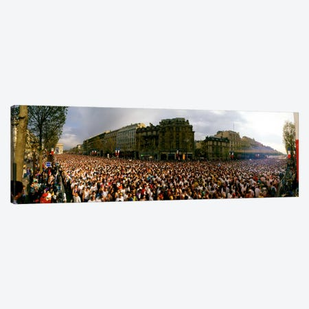 Marathon Runners, Paris, France Canvas Print #PIM171} by Panoramic Images Canvas Art