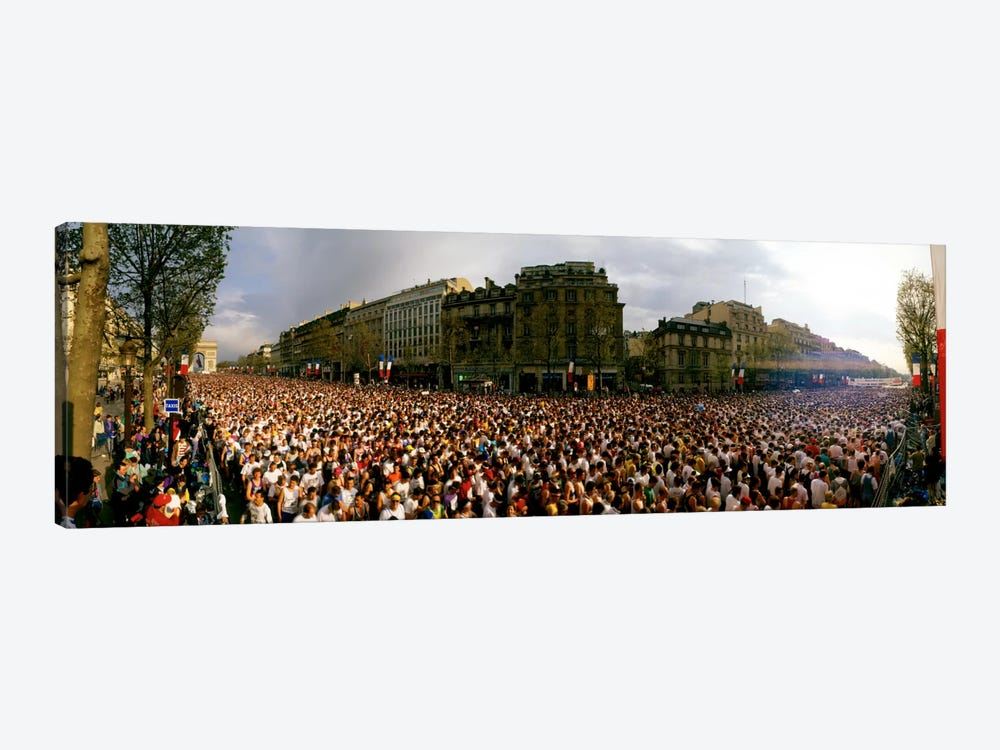 Marathon Runners, Paris, France by Panoramic Images 1-piece Canvas Print