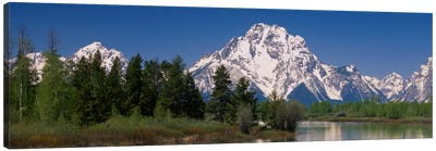 Snow-Covered Mount Moran As Seen From Oxbow Bend, Grand Teton National Park, Wyoming, USA Canvas Print #PIM1721