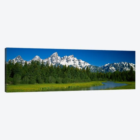 Mountain Landscape, Teton Range, Grand Teton National Park, Wyoming, USA Canvas Print #PIM1724} by Panoramic Images Art Print