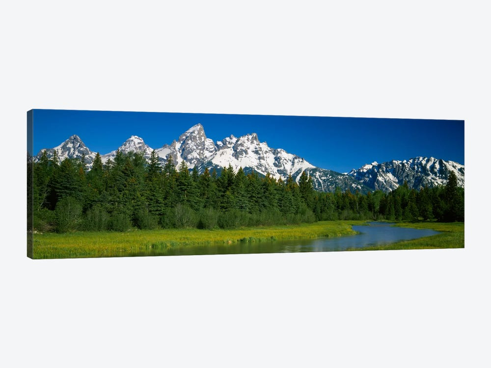 Mountain Landscape, Teton Range, Grand Teton National Park, Wyoming, USA by Panoramic Images 1-piece Canvas Art Print