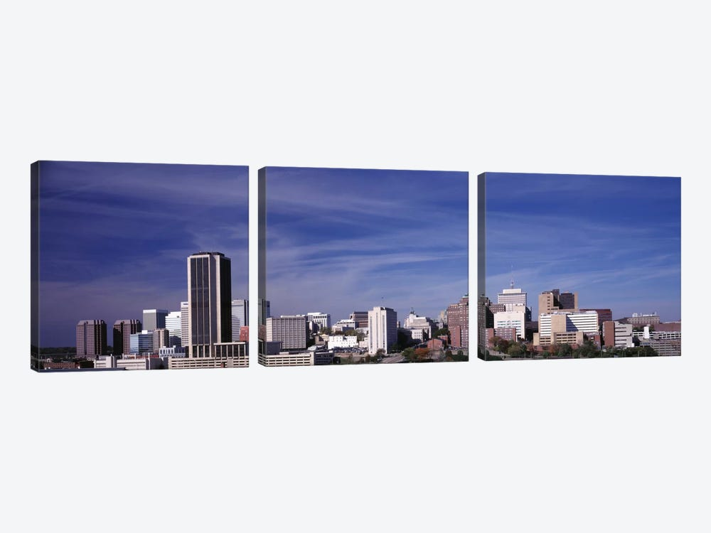 Downtown Skyline, Richmond, Virginia, USA by Panoramic Images 3-piece Canvas Art