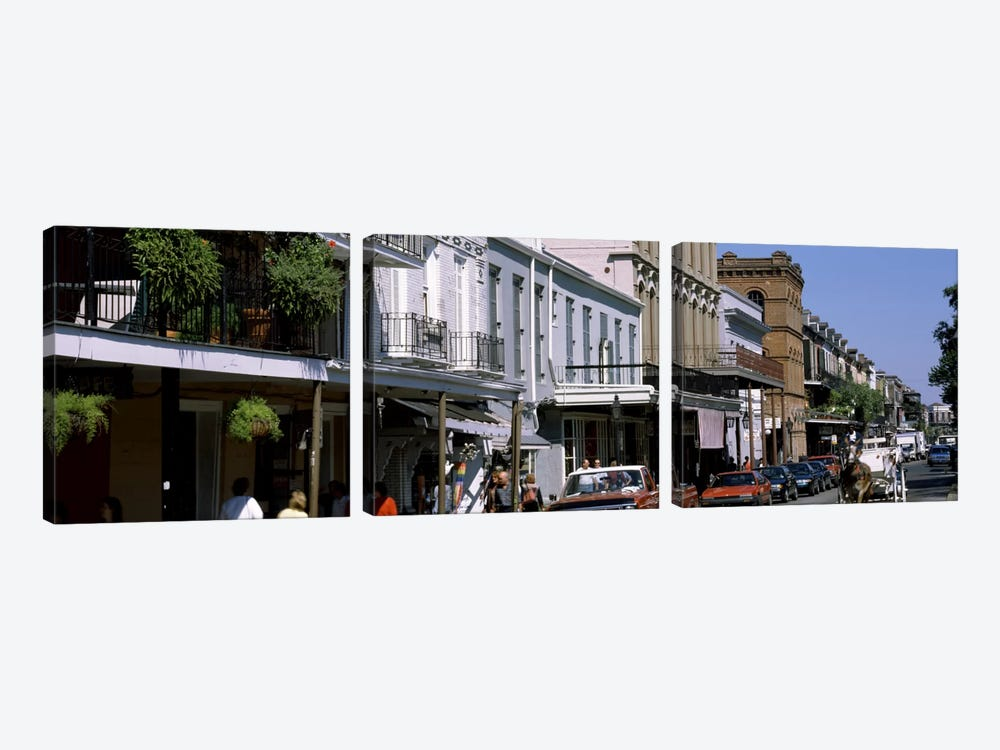Buildings in a city, French Quarter, New Orleans, Louisiana, USA by Panoramic Images 3-piece Art Print