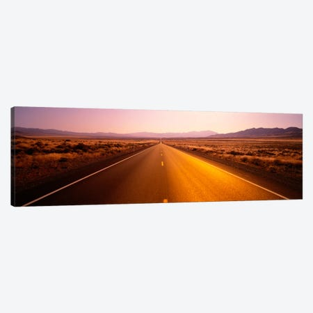 Desert Road, Nevada, USA Canvas Print #PIM1727} by Panoramic Images Canvas Art Print