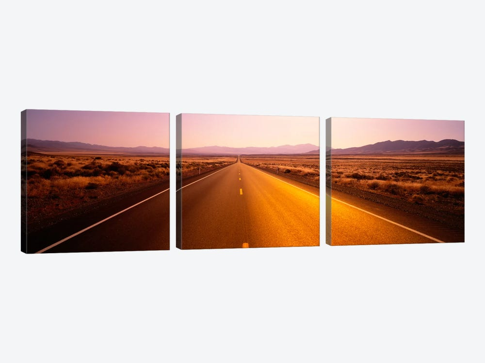 Desert Road, Nevada, USA by Panoramic Images 3-piece Canvas Artwork