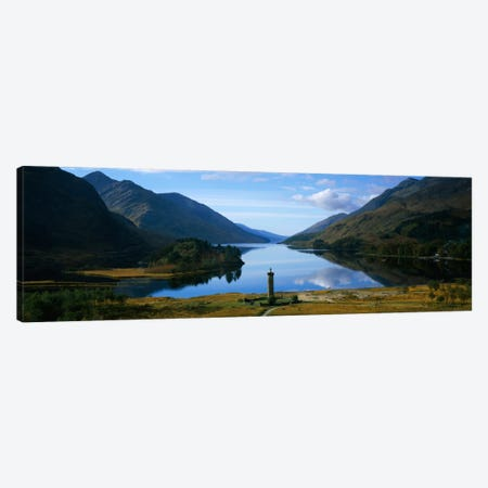 Glenfinnan Monument & Loch Shiel, Glenfinnan, Highlands, Scotland, United Kingdom Canvas Print #PIM1730} by Panoramic Images Art Print