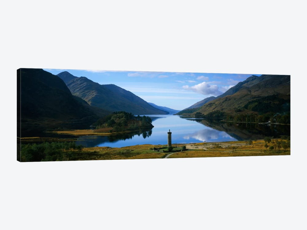 Glenfinnan Monument & Loch Shiel, Glenfinnan, Highlands, Scotland, United Kingdom by Panoramic Images 1-piece Canvas Artwork