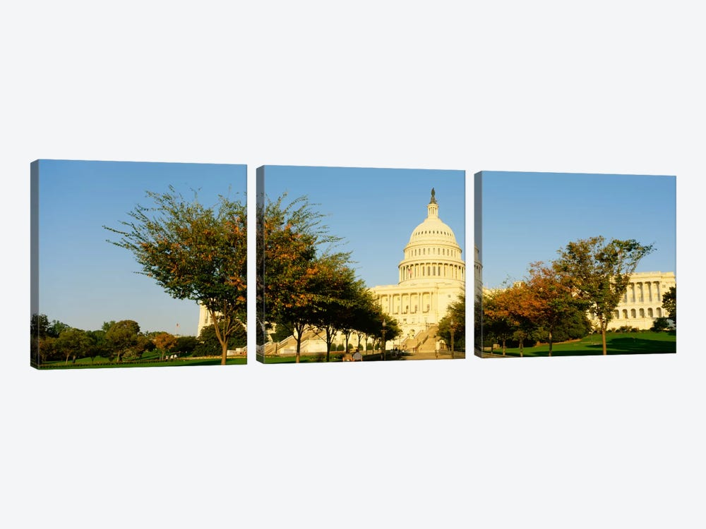 Capitol Building, Washington DC, District Of Columbia, USA by Panoramic Images 3-piece Canvas Wall Art