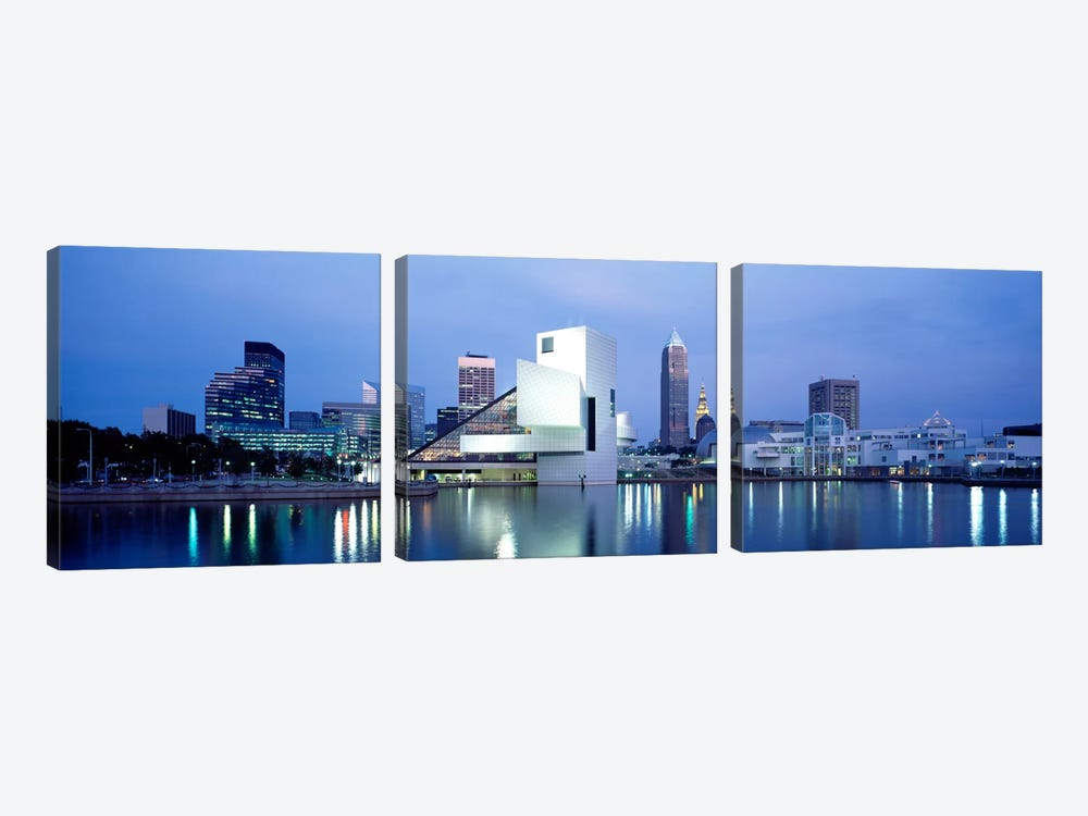 Rock And Roll Hall Of Fame, Cleveland, Ohio, USA by Panoramic Images 3-piece Canvas Art Print