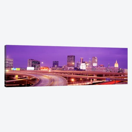USA, Georgia, Atlanta, Skyline at dusk Canvas Print #PIM1741} by Panoramic Images Canvas Wall Art