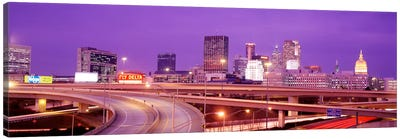 USA, Georgia, Atlanta, Skyline at dusk Canvas Art Print