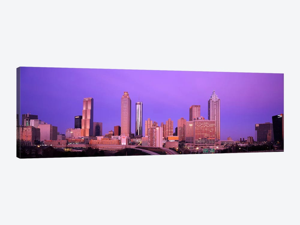 Skyscrapers in a city, Atlanta, Georgia, USA by Panoramic Images 1-piece Canvas Art