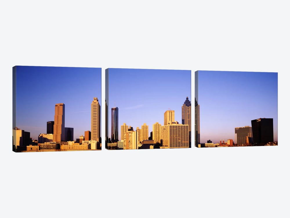 Skyscrapers in a city, Atlanta, Georgia, USA #2 by Panoramic Images 3-piece Art Print