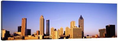 Skyscrapers in a city, Atlanta, Georgia, USA #2 Canvas Art Print