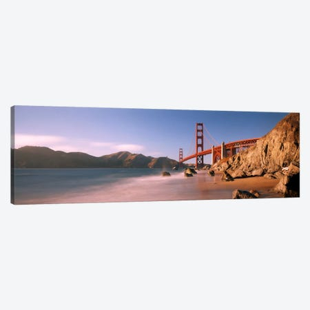 Bridge across a sea, Golden Gate Bridge, San Francisco, California, USA Canvas Print #PIM1753} by Panoramic Images Canvas Print