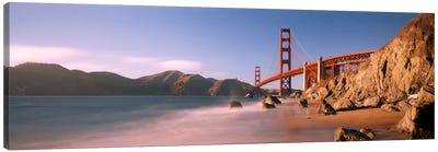 Bridge across a sea, Golden Gate Bridge, San Francisco, California, USA Canvas Art Print
