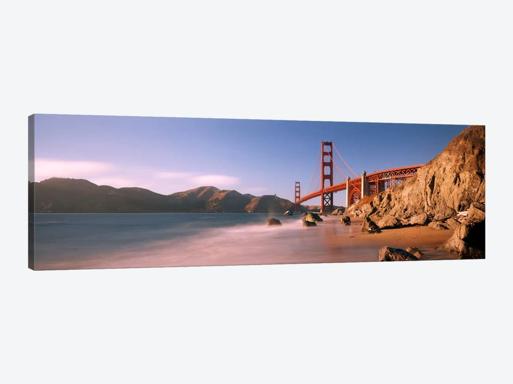 Bridge across a sea, Golden Gate Bridge, San Francisco, California, USA by Panoramic Images 1-piece Canvas Art Print