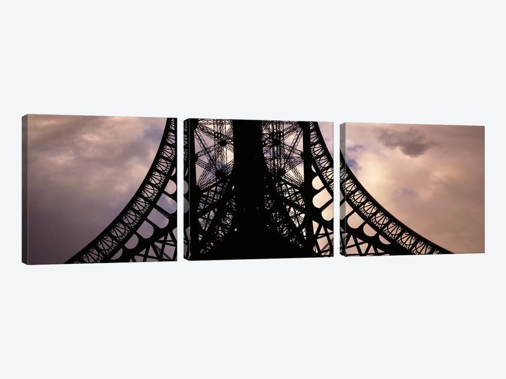 Eiffel Tower Paris France by Panoramic Images 3-piece Canvas Print