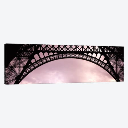 Sauvestre's Decorative Grill-Work Arches, Eiffel Tower, Paris, Ile-de-France, France Canvas Print #PIM1758} by Panoramic Images Art Print