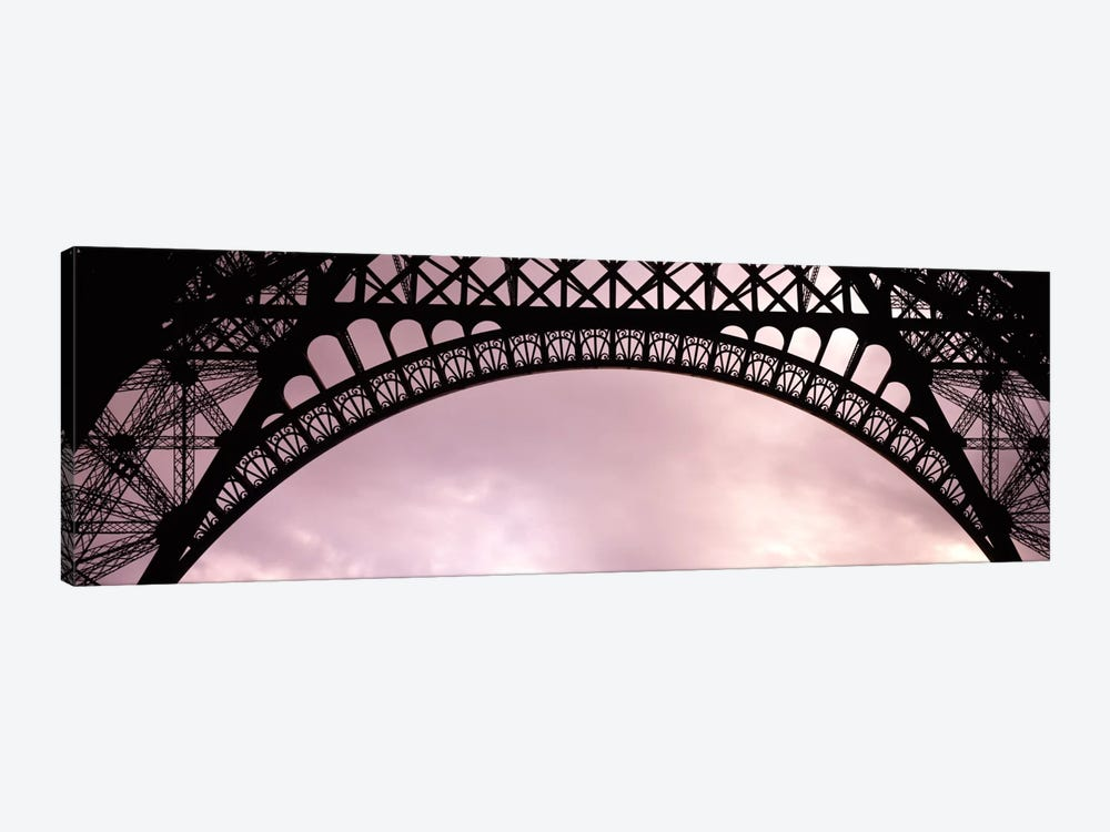 Sauvestre's Decorative Grill-Work Arches, Eiffel Tower, Paris, Ile-de-France, France by Panoramic Images 1-piece Canvas Artwork