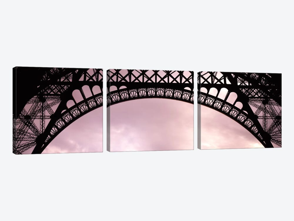 Sauvestre's Decorative Grill-Work Arches, Eiffel Tower, Paris, Ile-de-France, France by Panoramic Images 3-piece Canvas Art