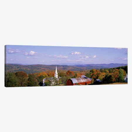 High angle view of barns in a field, Peacham, Vermont, USA Canvas Print #PIM1762} by Panoramic Images Canvas Art