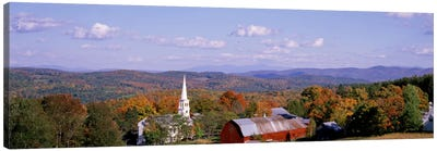 High angle view of barns in a field, Peacham, Vermont, USA Canvas Print #PIM1762