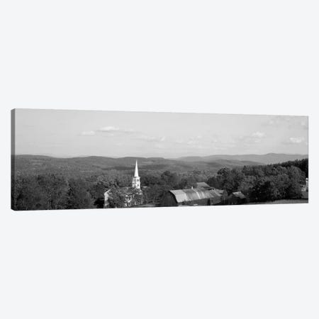 High angle view of barns in a field, Peacham, Vermont, USA #2 Canvas Print #PIM1763} by Panoramic Images Canvas Wall Art