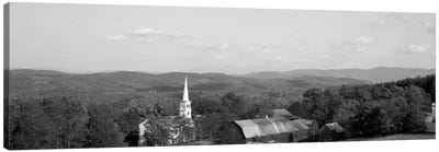 High angle view of barns in a field, Peacham, Vermont, USA #2 Canvas Print #PIM1763