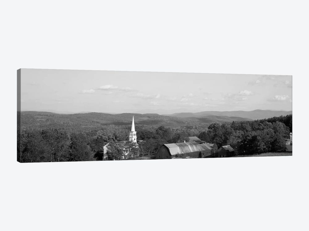 High angle view of barns in a field, Peacham, Vermont, USA #2 by Panoramic Images 1-piece Canvas Artwork