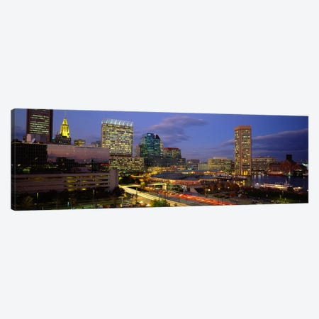 High angle view of a cruise ship docked at a harbor, Inner Harbor, Baltimore, Maryland, USA Canvas Print #PIM1765} by Panoramic Images Canvas Art Print